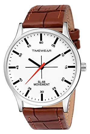 43f7314806 Buy TIMEWEAR White Dial Brown Strap Watch for Men - 235WDTG Online ...