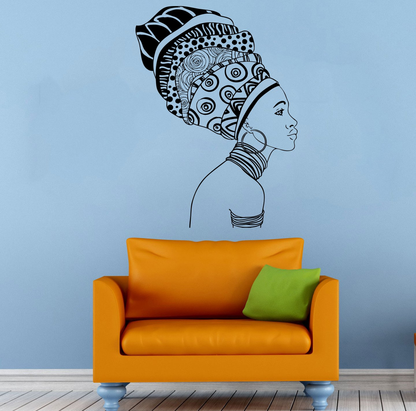 Africa African Girl Wall Stickers Vinyl Decals Home Decor Sticker