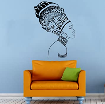 Africa African Girl Wall Stickers Vinyl Decals Home Decor Sticker Woman  Female Art Mural (7qaz Part 83