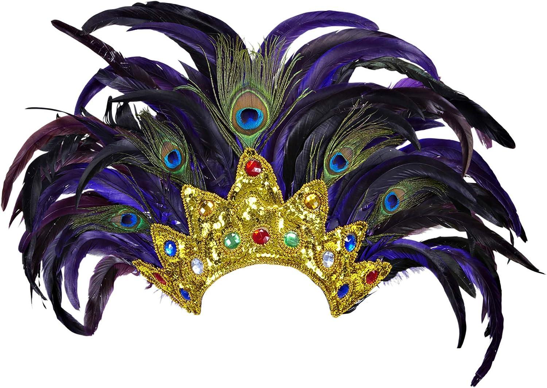 Multicoloured WIDMANN wdm11812/?/Headdress Feathers Bahia Show One Size