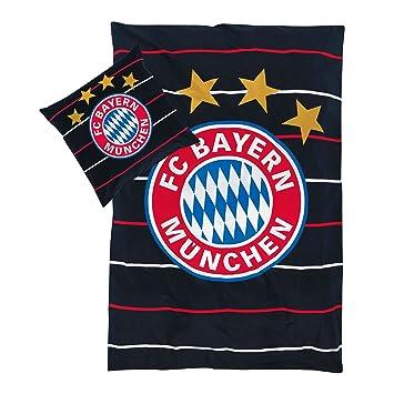 Bettwäsche Stripes Fc Bayern München Gratis Sticker Fcb Bed