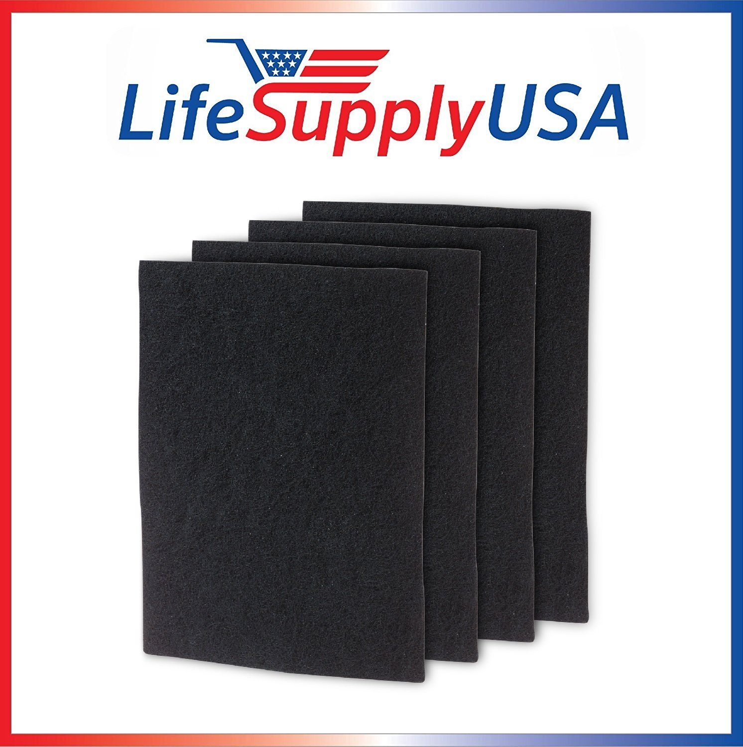lifesupplyusa 4パックカーボンpre-filters交換ホームズhapf60、Bionaire a1260 C、一般Electric Smartaire GE 106753、フィルタC B07D7HY646