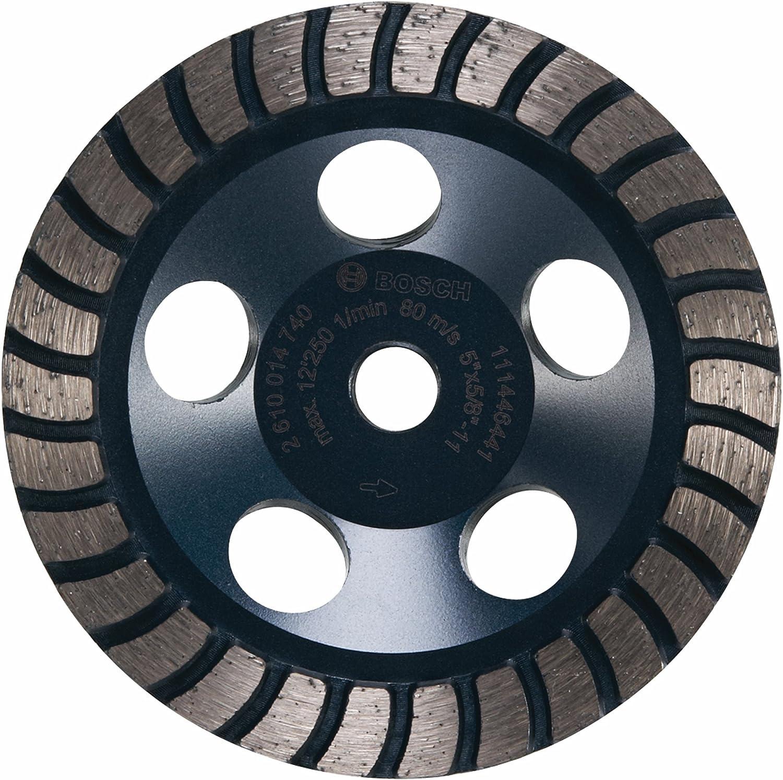 Bosch DC530H 5-Inch Diameter Turbo Row Diamond Cup Wheel with 5//8-11 Hub