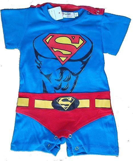 Superman bebé niño Superhero Comic Body Fiesta Disfraz/disfraz/Play Outfit azul Talla:12-18 meses: Amazon.es: Bebé