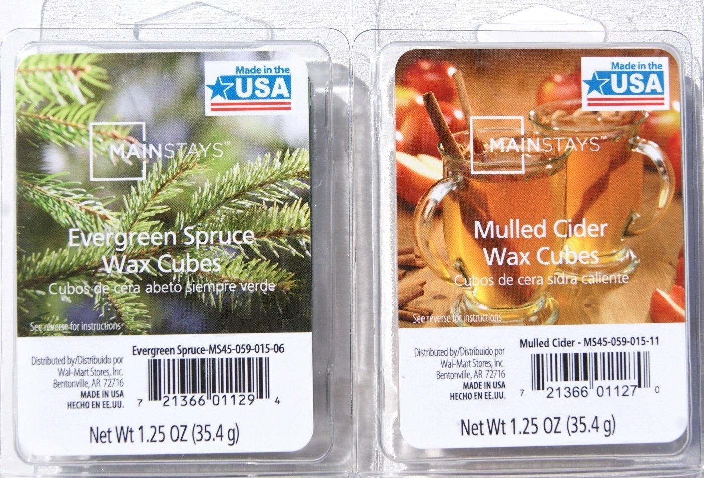 Amazon Mainstays Christmas Scents Wax Cubes Bundle Evergreen