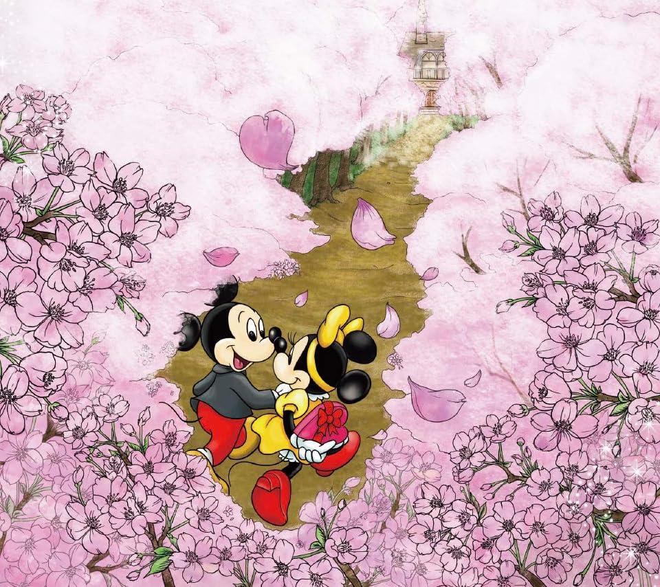 ディズニー Android 960 854 待ち受け ミッキー ミニー 桜が咲き誇る