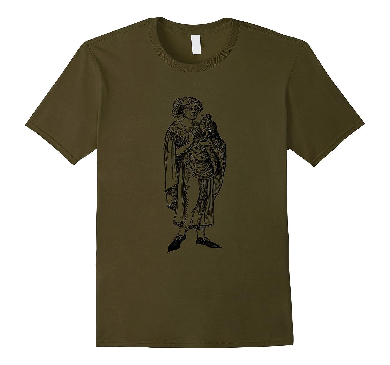 Renaissance Fair Man With Falcon T Shirt-AZP