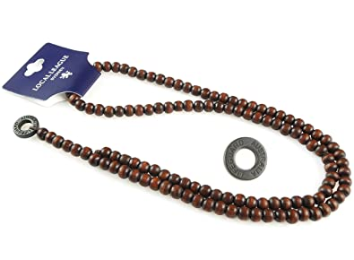Local League Lifeguard Mens Beaded Necklace Man Wooden Rosary Beads Chain String Pendant Clubbing Style