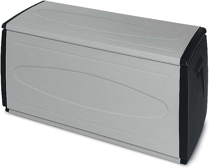 Terry Prince Black 120 Baul Multifuncional con Capacidad 308 litros. Se Puede Utilizar en ambientes internos y externos, Negro, Gris, 120x54x57 cm: Amazon.es: Jardín
