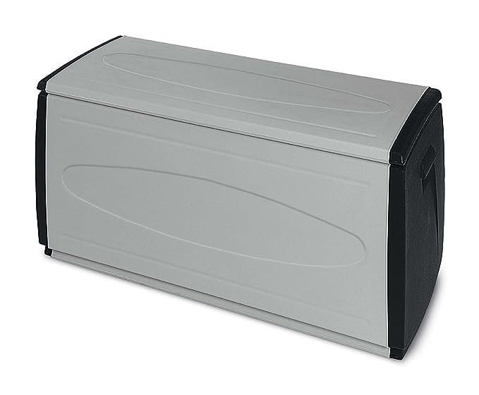 98 opinioni per Terry Prince Box 120 QBlack Baule in Plastica, Grigio/Nero, 120 x 54 x 57 cm