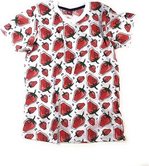 TRANKILO Camiseta Estampado de Fresas Real. (L): Amazon.es: Ropa y accesorios