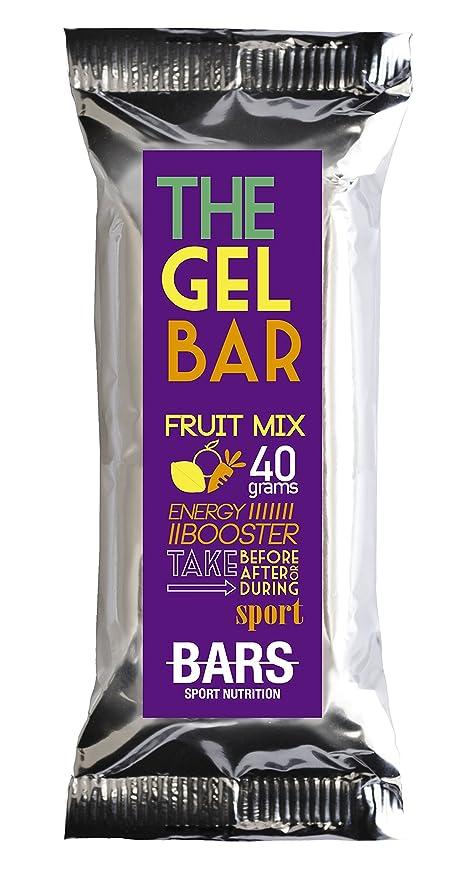 PUSH BARS 15 x Energy THE GEL BAR (40g), Complemento alimenticio gelificado con taurina, glutamina, magnesio y vitaminas B1 y B6. Mix de Sabores: Sandía, ...