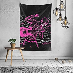 Mipruct M-Achine G-Un K-Elly Pink Guitar Tapestry Wall Hanging Art Home Decoration Bedroom Living Room Door Decor