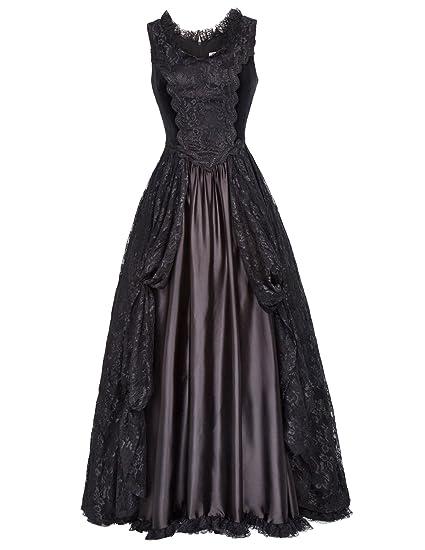 Belle Poque Steampunk Gothic Victorian Long Dresses High Waist Women