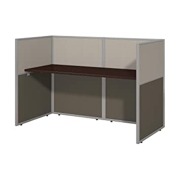 buy popular b145a e8e23 Bush Business Furniture Easy Office 60W Straight Desk Closed Office in  Mocha Cherry