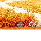 "Ottomanson SHG2271-3X5 Shag Rug, 3'3""X4'7"", Orange"