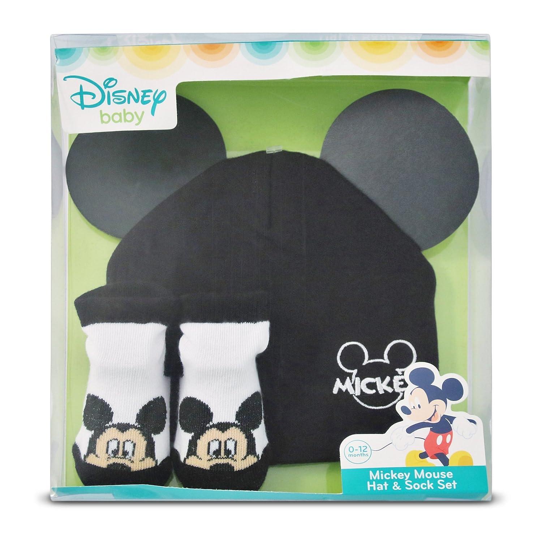 Set de regalo de gorro y botines de algodón de Mickey Mouse de Disney para  niños a2a1de2ee7e