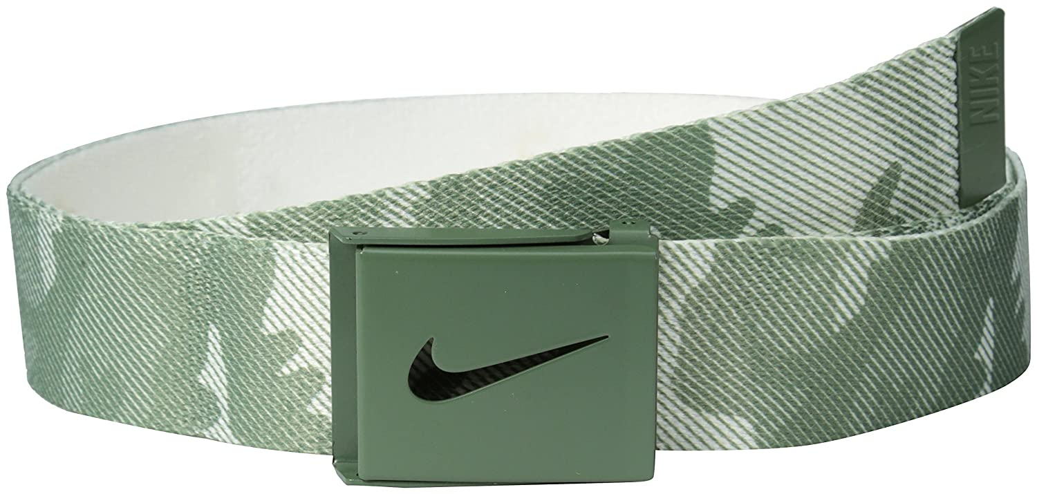 837b62180a Nike Men's Striped Camo Reversible Web Belt, Olive, One Size at ...
