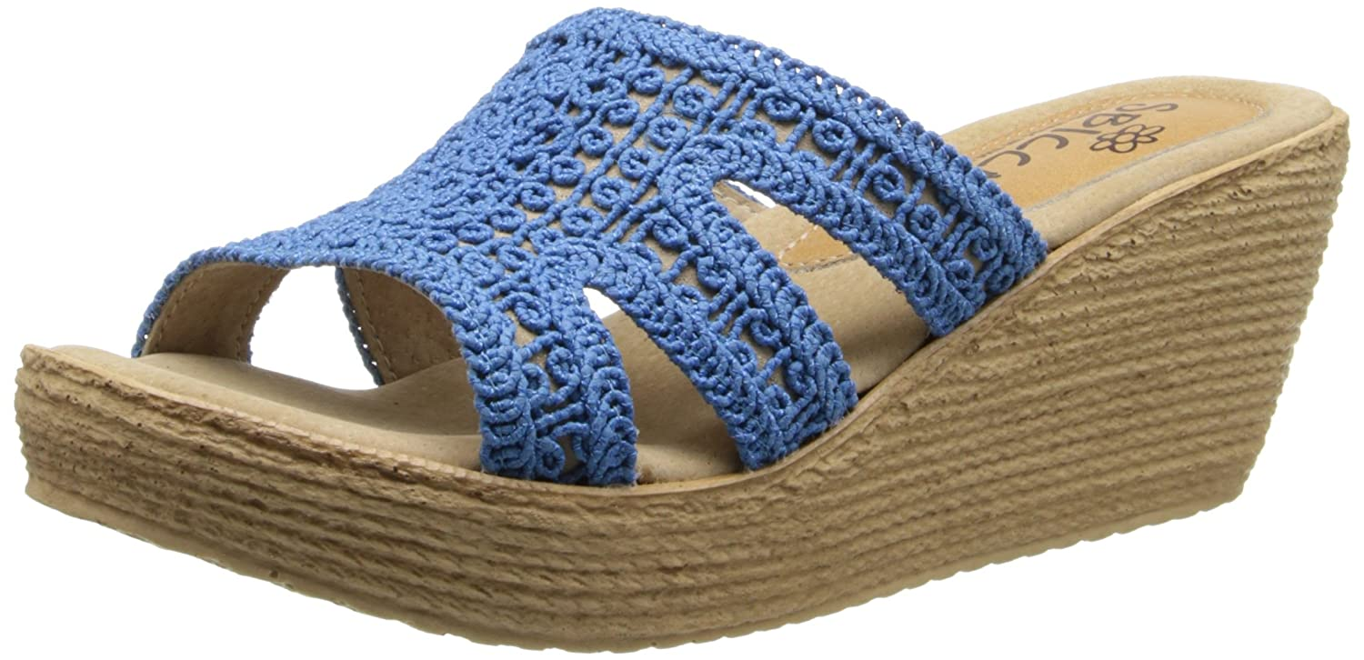 Sbicca Women's Rhodes Wedge Sandal B00GTMI7ZS 7 B(M) US|Blue