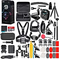 Navitech 50-in-1 Action Camera Accessories Combo KIt with EVA Case Compatible with The Bekhic V90 4K HD WiFi Sports Action Camera
