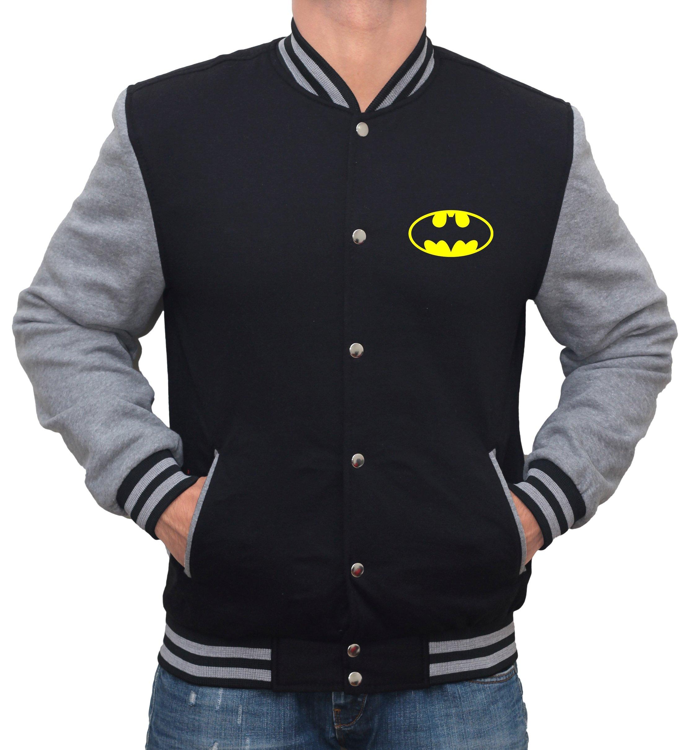 Decrum Batman Varsity Jacket - Batman Logo Mens Letterman Jacket | XL by Decrum