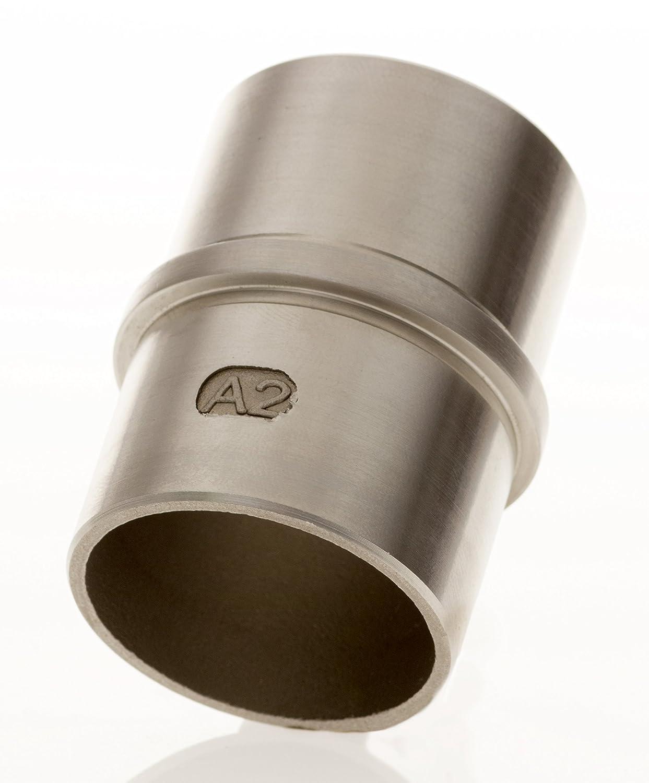 Tubo de acero inoxidable Conector 42, 4 x 2, 0 para barandilla | Fitting con barra central V2 A Conector para tubo 4x 2 0para barandilla | Fitting con barra central V2A Conector para tubo Bayram
