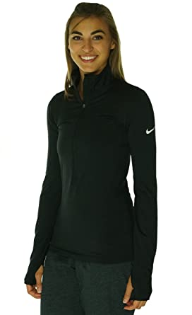 70a217c7f Nike Women's Pro Hyperwarm 1/2 Zip 3.0, Black/White, XS at Amazon ...
