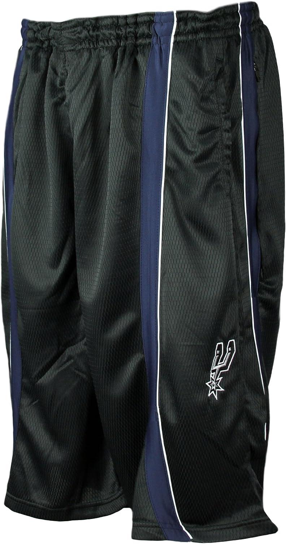 Zipway San Antonio Spurs NBA Mesh Tall Shorts, Black