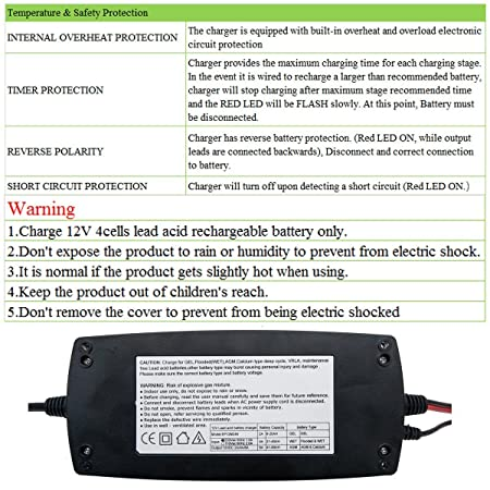 2/4/8Amp Car Battery Charger Trickle - MASO 7-Stages Adjusted Lead Acid  Battery Charging Conditioner Fully Automatic Waterproof Car Smart Chargers  for