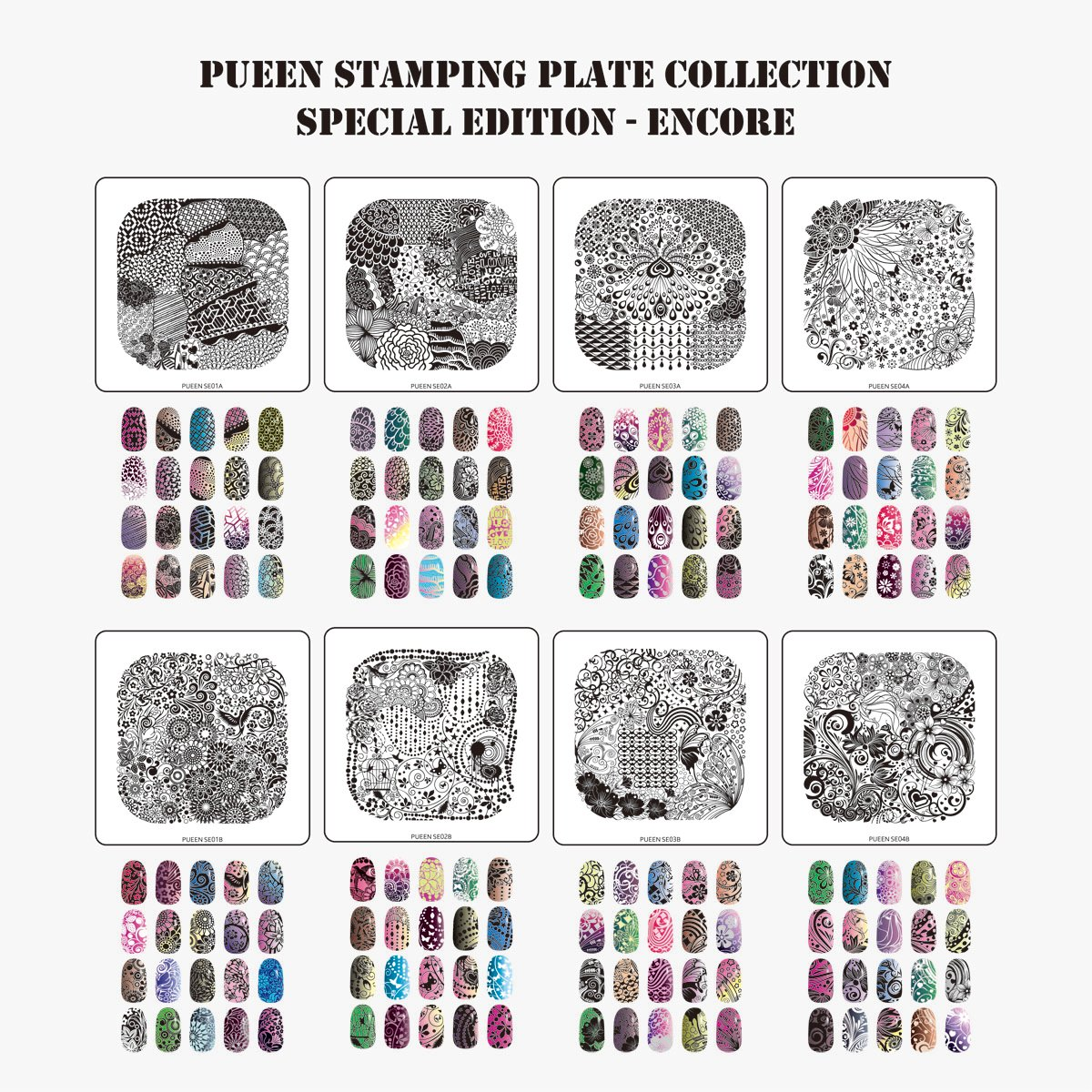 Amazon.com : Pueen Nail Art Stamp Collection - Special Edition ...