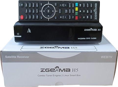 ZGEMMA H5 Digital Receptor De TV & Combo Box Para Satélite y Cable , Compatible con HEVC H265, con Sintonizadores DVB-T2/C y DVB-S2: Amazon.es: Electrónica