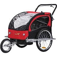 fixi Master 2en 1Baby Remolque de bicicleta Cochecito mano carro Jogger Rojo/Negro bt502