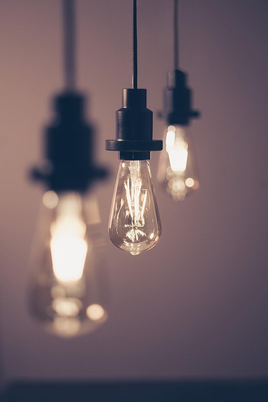 Blanc Chaud 2400K Forme Edison Or Ambr/ée Culot E27 /Équivalent 35W Osram Vintage Edition 1906 Ampoule LED /à Filament 4W