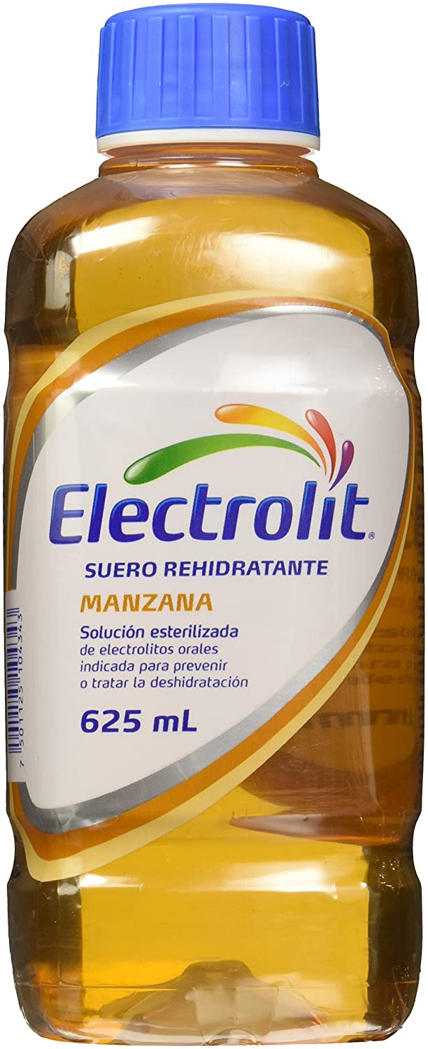 Amazon.com : Electrolit Suero Rehidratante Manzana / Apple 625ml (Pack of 8) : Grocery & Gourmet Food