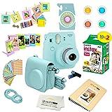 Fujifilm Instax Mini 9 Camera + Fuji INSTAX Instant Film (20 Sheets) + 14 PC Instax Accessories kit Bundle, Includes…