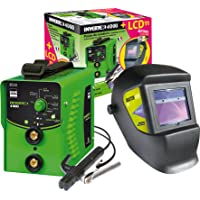 GYS Elektroden lasapparaat 160 A, met LCD-lashelm, groen, inverter 4000 en LCD Master 11
