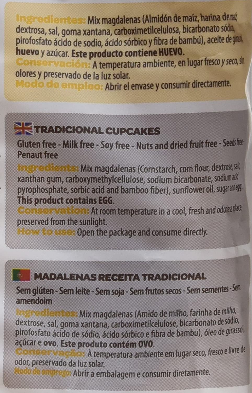 Adpan, Surtido de dulce (Magdalenas) - 12 unidades - sin gluten: Amazon.es: Alimentación y bebidas