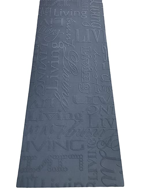 Tappeto cucina 67 X 300 living design scritte nero grigio lavabile in  lavatrice antiscivolo
