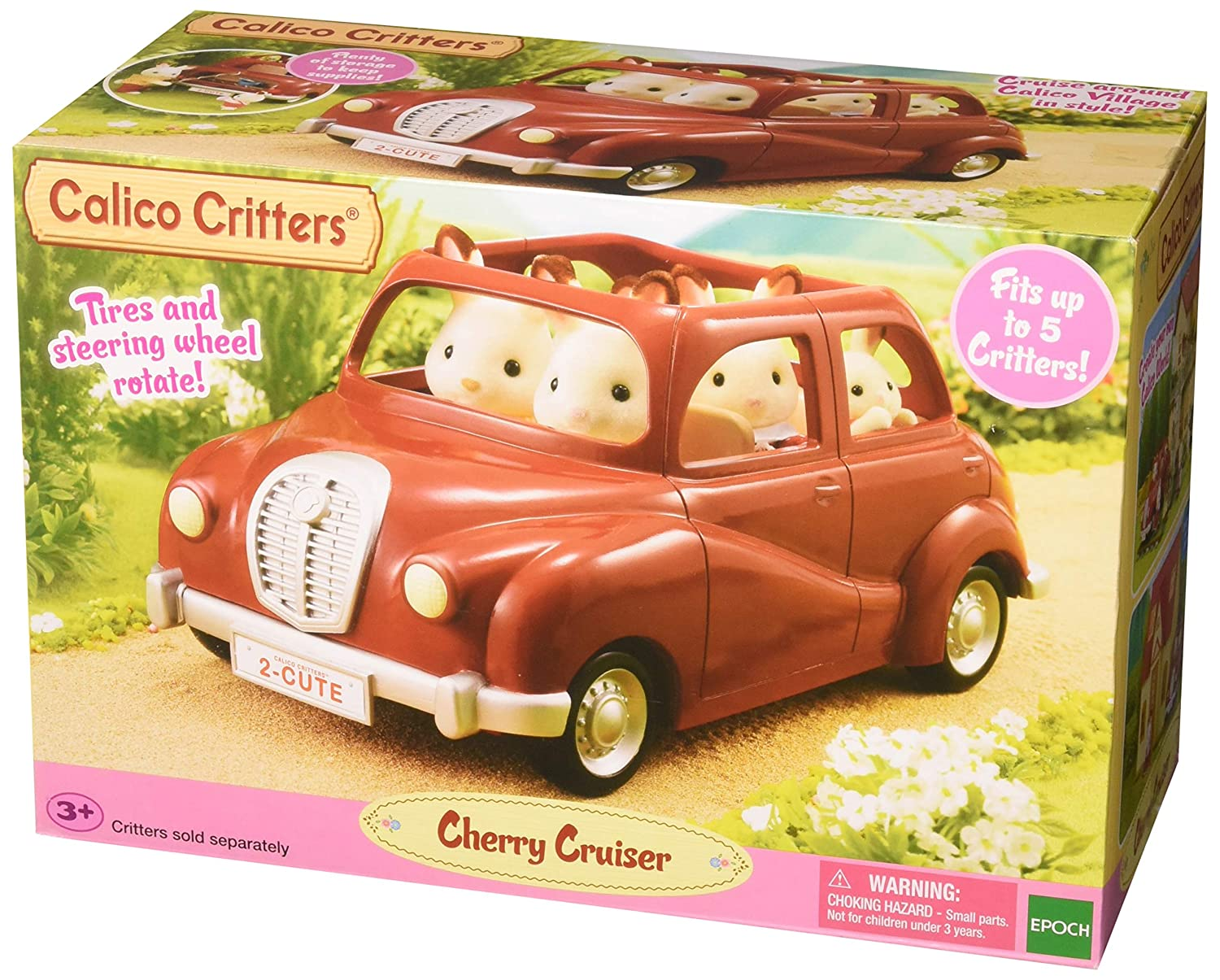 Calico Critters Cherry Cruiser Car Vehicle Doll