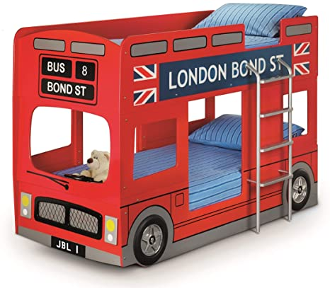 Letto A Castello A Forma Di Autobus.Julian Bowen Letto A Castello A Forma Di Autobus Di Londra Singolo