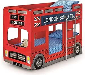 Julian Bowen litera con diseño de autobús de Londres