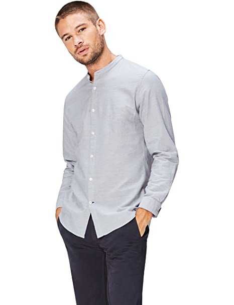 FIND Camisa Cuello MAO Para Hombre FqpKeDHCNx