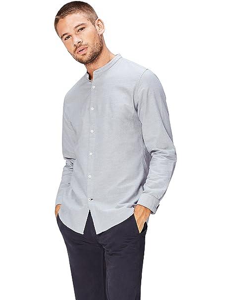 34a9de384 find.. Camisa Cuello Mao Para Hombre