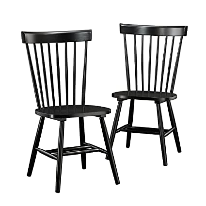 Sauder 418892 New Grange Spindle Back Chairs L 2047 X W 2126 X H 3622 Black Finish