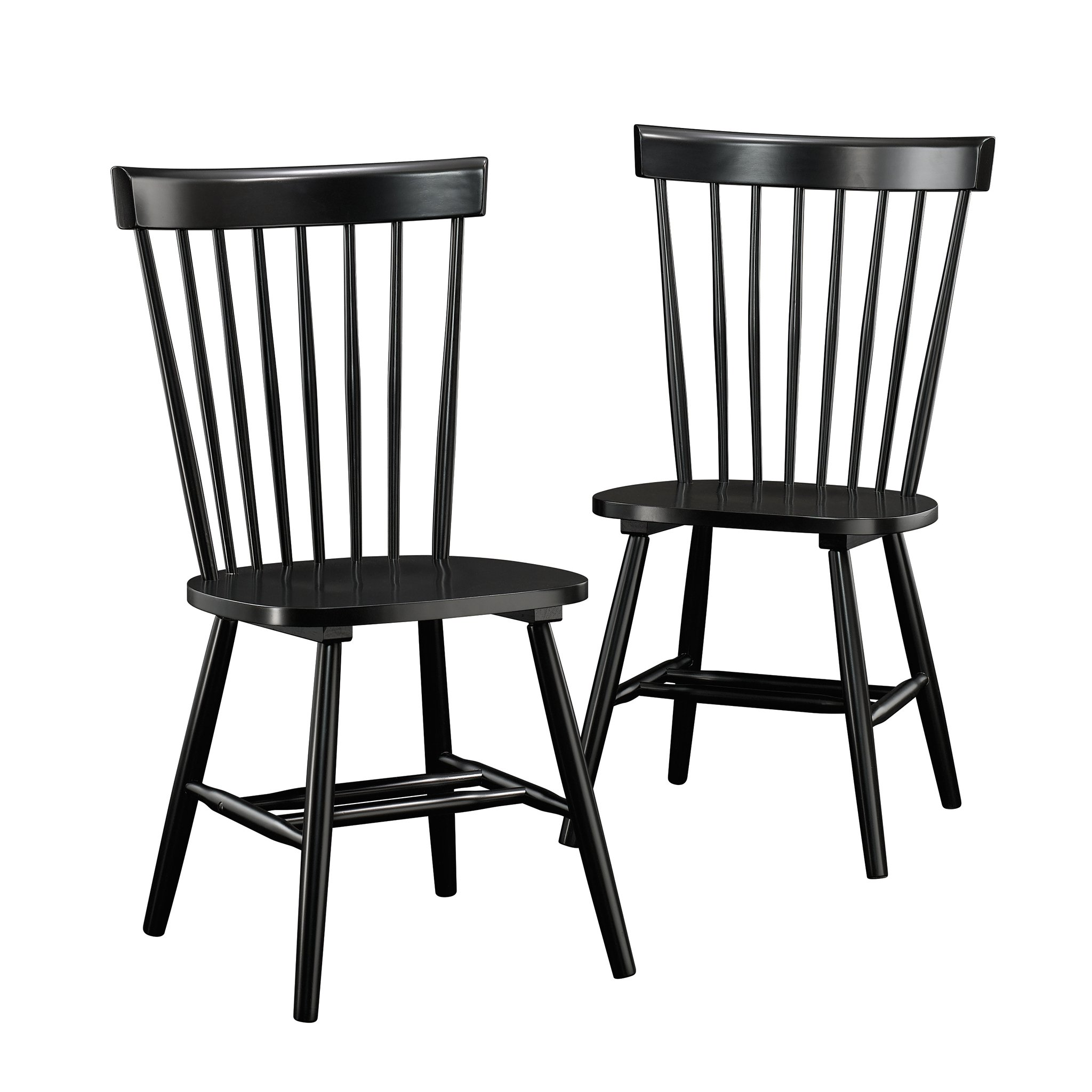 Sauder 418892 New Grange Spindle Back Chairs, L: 20.47'' x W: 21.26'' x H: 36.22'', Black finish by Sauder (Image #1)
