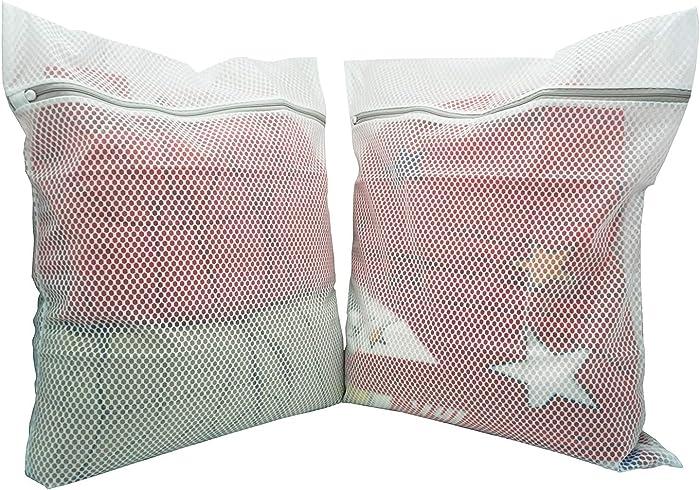 CITIKU Extra Large Heavy Duty Honeycomb Mesh Laundry Bag,Travel Storage Organize Bag,Wash Bag for Laundry,2PCS