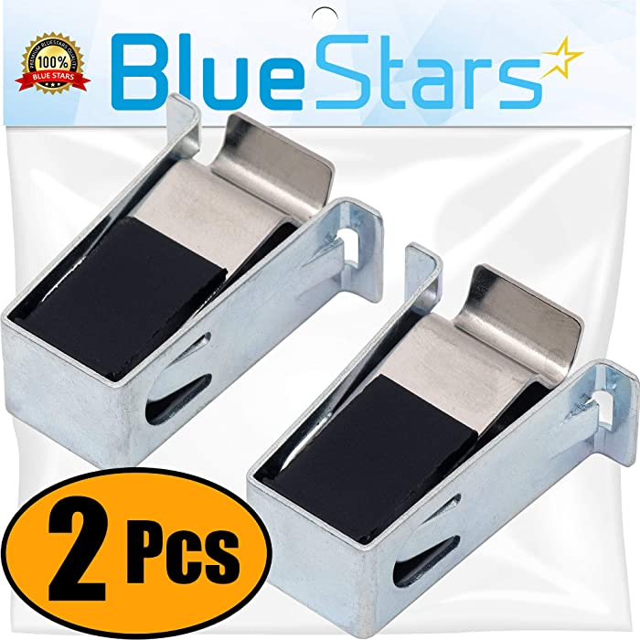 Ultra Durable W10111905 Dryer Door Catch Replacement Part by Blue Stars - Exact Fit for Whirlpool & Kenmore Dryers - Replaces AP4364920 PS2341298 8572982 - PACK OF 2
