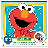 Sesame Street Shaped Kids Bandages, 100 CT | Antibacterial Adhesive Bandages for Minor Cuts, Scrapes, Burns. Great Stocking S