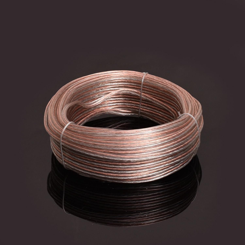 20 Gauge, 50 feet Conext Link PSC20CGS-50 Parallel Gold Silver Speaker Cables Full Gauge Oxygen Free Copper Zip Wire