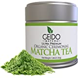 Geido Matcha Green Tea Powder - Premium, Organic, Best Taste - Packed with Antioxidants To Help Boost Alertness, Energy and Mental Focus - Healthy Detox and Weight Loss